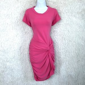 Bodycon T Shirt Dress Pink Ruched Serena Williams